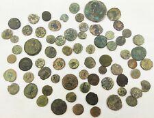 Empire Romain - 70 pièces de monnaie Romaines en bronze frappées au I-IV siècle