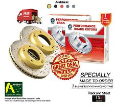 FORD FPV GT-P BA BF FG 355mm FRONT SLOTTED DRILLED Disc Brake Rotors (2)