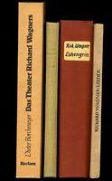 4 Bände★RICHARD WAGNER★Das Theater R.W.s★Lieder★Lohengrin-Partitur★Eliza Wille★