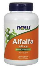 Alfalfa 10 Grain 250 Tabs, Now Foods Green Foods