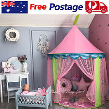 Kids Teepee Play Tent Princess Castle Pink Girls Childrens House Indoor Outdoor
