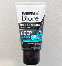 Biore Mens Facial Foam Double Scrub Black And White Extra Cool 50 g.