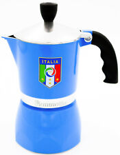 Bialetti Espressokocher Espressokanne Fiammetta Nazionale 3 Ta, blau