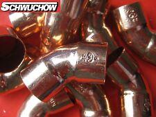 50 cuivre coude 22 mm x 45° II 5041 tuyau en Raccords à souder arc CU ESSAYAGE