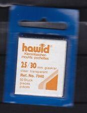 hawid 7040   50 Zuschnitte 25x30 mm glasklar