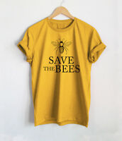 NutoScreen Save The Bees T Shirts Women's Unisex Bee Fun Yellow Shirts Tees