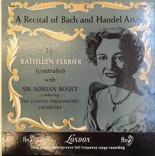 "Ferrier, Boult – A Recital Of Bach And Handel Arias (5083) 12"" LP London Rec"