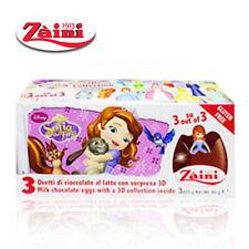 Zaini Disney Priness Sofia Milk Chocolate Toys Inside 3 Egg Collectible Gift