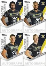2018 NRL Traders Faces of the Game COWBOYS 4 Card Team Set