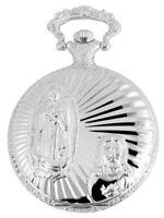 Tavolino Taschenuhr Jesus Maria Christ heilig Silber Edelstahl Geschenk Neu WoW