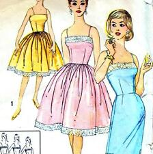 """Vintage 60s SLIP DRESS Sewing Pattern UNCUT Bust 36"""" Size 12 PROM Evening PARTY"""