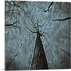 ARTCANVAS Tall Tree Blue Forest Painting Home decor Canvas Art Print