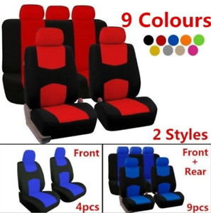 4/9PCS Full Set Front Rear Head Rests Car Seat Covers Auto Suv Truck Seat Cover
