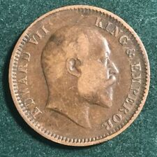BRITISH INDIA 1910 1/4 ANNA NICE COIN XF GRADE EDWARD VII