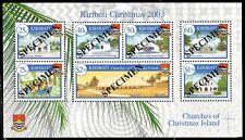 KIRIBATI 841as - Christmas 'Island Scenes' Souvenir Sheet SPECIMEN (pa59974)