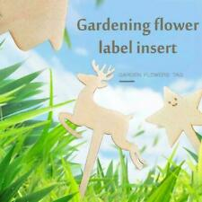 Multi-style Garden Wooden Label Name Tags Herb Plant B9X0 Pots Eco Markers V4R6