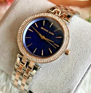 Michael Kors Women's Mini Darci Three-Hand Two-Tone Stainless Steel Watch MK3651