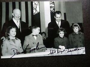 DAVID & JULIE EISENHOWER Hand Signed Autograph 4X6 photo - PRESIDENTS MARRIED