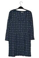 NEW EX FAT FACE UK 6 8 10 12 18 NAVY GEOMETRIC FLORAL PRINT JERSEY TUNIC TOP