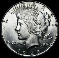 1928-S Peace Silver Dollar ---- GEM BU++   ---- #H023
