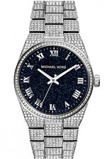 NEW MICHAEL KORS MK6089 CHANNIG PAVE CRYSTALS SILVER LADIES WATCH -NEXT DAY DEL.