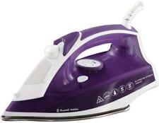 Steam Iron Traditional Soft Touch Handle Self Cleaning Purple/White 2400 Watt