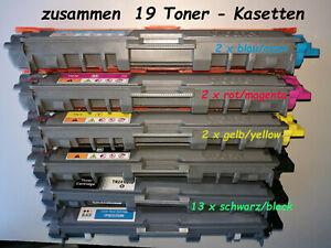 19 x Tonerkasetten TN 221- 241-242-245-246  leer, für Brother Laser HL 3142 CW