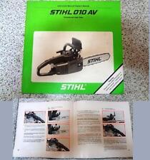 Manuale manual uso manutenzione-Handbuch Wartungsanleitung-STIHL 010AV ing