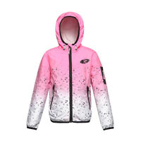 Girls' Lightweight Water-Resistant Zipper Hooded Windbreaker Jacket Coat Outwear