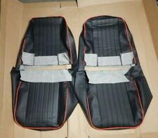 New Front Seat Covers Seat Upholstery MG Midget 1970-79  Black W/ Red Trim