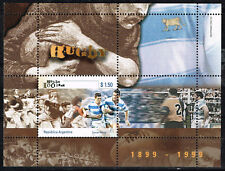 Argentina Sport Rugby 100 Ann 1999 Souvenir Sheet MNH