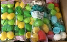 """240 MULTI COLOR EASTER EGGS PLASTIC REFILLABLE ASSORTED COLORS 2 1/4"""" X 1 1/2"""""""