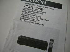DENON INTEGRATED STEREO AMPLIFIER PMA-525R OPERATING INSTRUCTIONS SAFETY MANUAL