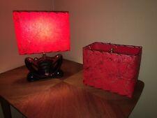 Mid Century Vintage Style Fiberglass Lamp Shade Modern Rectangular Red
