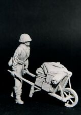 RESICAST 35-502 - GERMAN PUSHING WHEEL-BARROW - 1/35 RESIN KIT