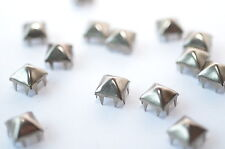 100x Pyramids Rivets Claw Rivets, 9.3 x 9.3 mm, Colonial Nickel, C&c Metal P