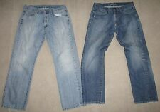 Lot of 2 Mens Lacoste Denim Jeans Sz 34/36  100% Cotton