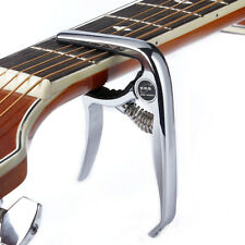 single handed Clamp Key Capo For Acoustic Electric Classic Guitar Silver