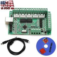 Mach3 USB CNC Motion Controller Card Interface Breakout Board USA Shipping