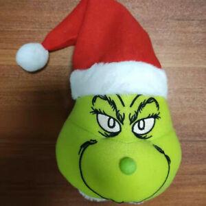 Grinch Christmas Decorations Furry Green Grinch Head Ornament Holder Tree DECOR