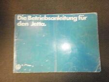 Betriebsanleitung VW Jetta 1 Modell 1980 gut m. Mängeln 0.00.561.086.00 v. 10.79