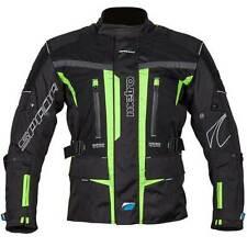 Spada Metro Waterproof Motorcycle Motorbike Textile Jacket Black / Fluorescent