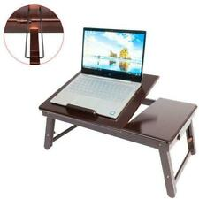 Portable Bamboo Laptop Desk Table Folding Breakfast Bed Serving Tray w/Drawer