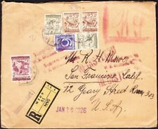 Austria - 1926 - 6 Stamp Registered Cover to San Francisco, CA, USA - Attractive