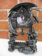 DARK TIMES Dragon Clock  Statue   H13'' x L9.85'' x W5''