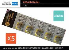 5 X 625A PX-625A V625U PX13 A625 LR9 L1560 GDP PX625 EPX625G alkaline battery