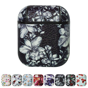 Leather Flower Case Cover Protective For Apple AirPods Charging Case AirPod Skin