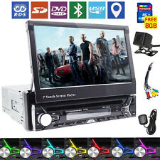 """Camera+7"""" GPS Navigation Touch Screen 1Din Autoradio Car RDS DVD Stereo Player"""