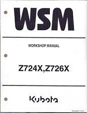 Kubota Z724X,Z726X  Zero Turn Mower Workshop Repair Manual 9Y111-11983