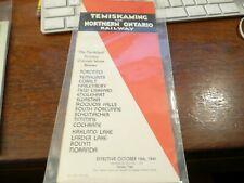 Temiskaming and Northern Ontario Railway Timetable -10/19/1941